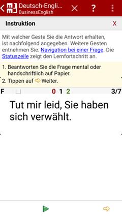 Frage in Muttersprache Deutsch - MM3-TeachingMachine - Vokabeltrainer - Mein Handy ist meine TeachingMachine