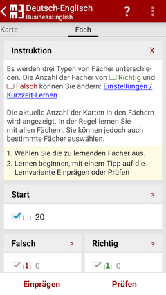 Fach - MM3-TeachingMachine - Vokabeltrainer - Mein Handy ist meine TeachingMachine