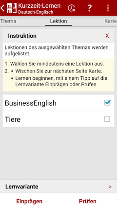 Lektion - MM3-TeachingMachine - Vokabeltrainer - Mein Handy ist meine TeachingMachine